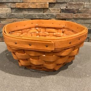 Longaberger 1999 Small Octagon Basket w/ Protector